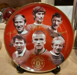 Manchester United MUFC Danbury Mint   centenary plate - Pre owned