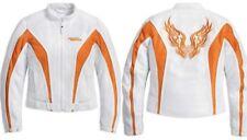 Harley-Davidson SUNSET REFLECTIVE White Orange MESH Jacket 97257-10VW NWT 1W