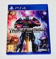 Replacement Case (NO GAME) Transformers Rise of the Dark Spark PS4 Playstation 4