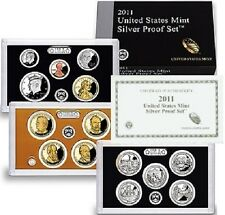 2011-S SILVER FOURTEEN 14 COINS SAN FRANCISCO PROOF SET WITH COA AND BOX