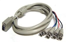 6-Ft Premium 15-pin VGA to 4 BNC RGB Video Adapter Cable
