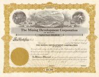 Montana Mining Development Company > stock certificate