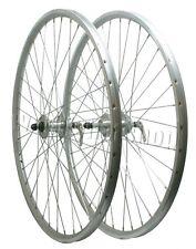 "26"" PAIR Rigida MTB Bicycle Screw On Bike Wheels Quando Hubs in Silver"