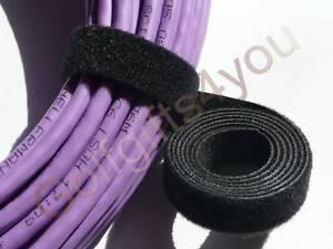 VELCRO STRAP CABLE TIE HOOK & LOOP 25mm WIDE 1m LENGTHS *GENUINE VELCRO*