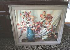 """SALE!!! """"CECIL GOLDING"""" EXTRA LARGE FRAMED RETRO STILL LIFE LITHOGRAPH"""