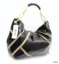 NWT MANIA Italy SHOULDER BAG HANDBAG HOBO TOTE ~BLACK