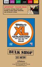 D�€™Addario EXL110-B25 Nickel Wound-Bulk Pack/25 String Sets 010-.046