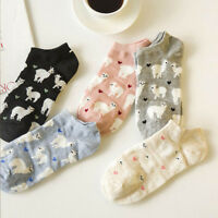 Women Lovely Alpaca Cotton Breathable Boat Socks Invisible Low Cut Ankle Sock