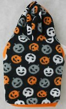 Halloween Fleece Black Orange Pumpkin Hoodie Jacket Dog Costume Coat Size Small