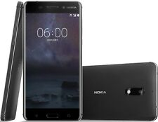 "Nokia 6 Dual SIM 64GB Black 5.5"" 4GB RAM 16MP Android Phone By FedEx"
