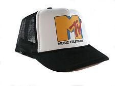 Vintage Mtv music television Trucker Hat mesh hat snapback hat black new