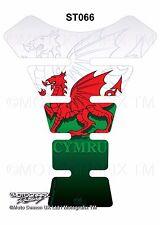 Welsh Dragon Wales Flag Cymru Motorcycle Tank Pad Motografix 3D Gel Protector