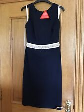 Brand New Paper Dolls Navy Dress With Embellished Waist Detail