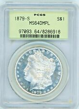 1879-S Morgan Silver Dollar - PCGS MS64 DMPL - OLD HOLDER