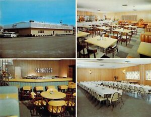 IL Pontiac PAULS NEW LOG CABIN Restaurant 1959-64 Vintage AD 5.5x7 postcard
