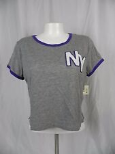 NEW Aeropostale Gray Embellished Crop Top T-Shirt Size XL
