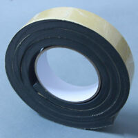 Black Single Sided Foam Tape 30mm Wide x 10mm Thick Self Adhesive 3m