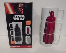 "STAR WARS ""STACKING MUG SET"" Darth Vader Stormtrooper ceramic 8oz mugs NEW"
