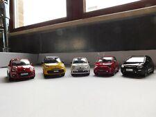Lot de 5 véhicules Fiat et Abarth 1/43 Burago