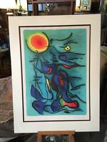 "Gustave Singier 1969 Abstract Lithograph ""Nereids"" MId Century Modern Listed"