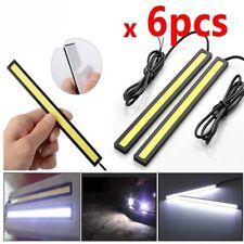 6pcs WHITE 12V waterproof COB Driving Daytime Running Lamp Led DRL Fog Light Bar