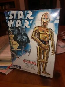 """Vintage MPC 1977 Star Wars C-3PO 10"""" Scale Model Kit Complete NEW Factory Sealed"""