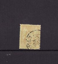 timbre France  Sage   25c bistre sur jaune    num: 92  oblitéré