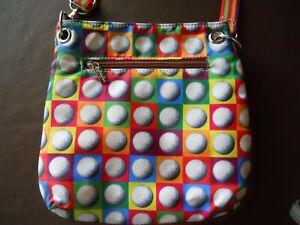 Sydney Love Golf Ball Print Nylon Crossbody Bag