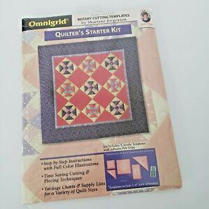 Omnigrid Quilters Starter Kit #2255 Rotary Cutting Templates Sharlene Jorgenson
