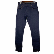 Left Field NYC Charles Atlas Jeans Xinjiang Cotton Dark Blue Wash Size 32 $149