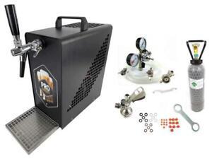 Bierkühler Komplettset mobile Zapfanlage Bierzapfanlage Durchlaufkühler Schwarz