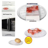 Microwave Tray Multi Purpose Easy Cook Plate Stand Bacon No Stain Potato Bake