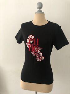 NEW CAROLINA HERRERA short sleeve T-shirt Black size XL WRONG size runs smaller