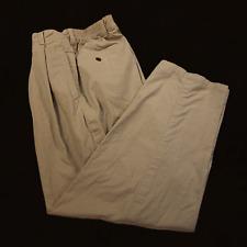 mans tan working pants 100% cotton size 32 / 28.5 classic fit