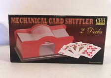 2 Deck Hand Cranked Mechanical Card Shuffler Manual Playing Casino Poker Bridge