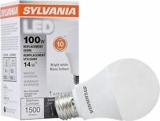 SYLVANIA LED LIGHT BULB BRIGHT WHITE 14W 3500K A19 NON DIMMABLE 100W EQUIVALENT