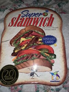 GAMEWRIGHT SUPER SLAMWICH CARD GAME FAST FLIPPING CARD GAME 2-6 PLAYERS AGE 6+