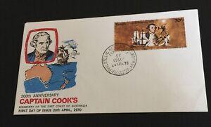 Australia  1970 Fdc  200th Anniversary Captain Cooks Small Cook 30c Scarce Cover