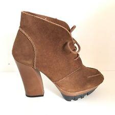 HOSS scarpe shoes n. 39 donna woman HOSW81 camoscio marrone