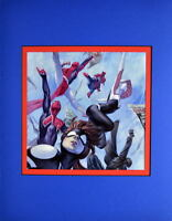 WEB WARRIORS #1 COVER PRINT PROFESSIONALLY MATTED Marvel Spider-Man