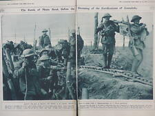 1917 MENIN ROAD BATTLE STORMING ZONNEBEKE WELSH REGIMENT WWI WW1 DOUBLE PAGE