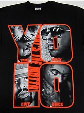 YOLO T-Shirt The MOTTO Drake Weezy YMCMB Tee Hip Hop Rap Adult LARGE Black Red