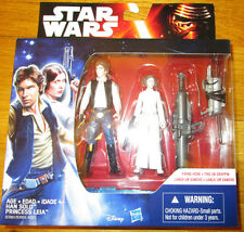 STAR WARS FORCE AWAKENS MISSION 2-PACK HAN SOLO PRINCESS LEIA FIGURE SET
