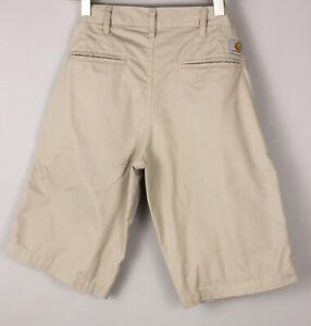 CARHARTT Men Presenter Chino Bermuda Shorts Size W29 BDZ1232