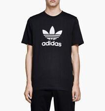 Adidas Originals Adicolor T-shirt con trébol logotipo en negro cw0709
