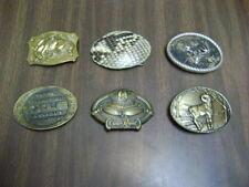 Belt Lot of 6 Buckles Vintage Metal