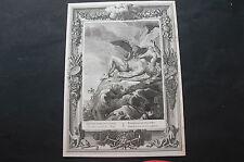 ANTIQUE PRINT 18th C PICART MYTHOLOGY PROMETEUS TORTURED BY A VULTUR