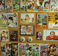 1970's+ NFL Lot w/1966 Topps #96 Joe Namath/Unitas/Marino/Montana/Maynard/Greene