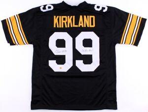 "Levon Kirkland Signed Steelers Jersey inscribed ""2x Pro Bowl"" (CAS COA)"