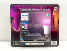NEW Philips Hue White and Color Ambiance Starter Kit, 3 Color Bulbs With Bridge
